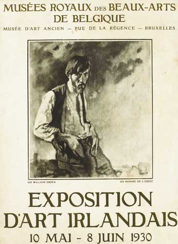 ORIGINAL POSTER FOR THE EXPOSITION D'ART IRLANDAISE, BELGIUM, 1930 by Sir William Orpen sold for �1,800 at Whyte's Auctions