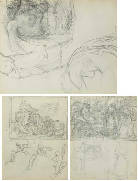 STUDIES FOR SLADE SCHOOL COMPOSITIONS (SET OF THREE) by Sir William Orpen sold for �1,800 at Whyte's Auctions