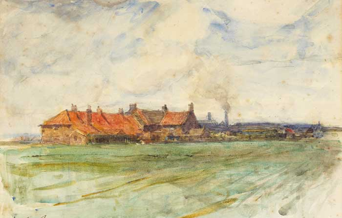 LANDSCAPE WITH RED-ROOFED BUILDINGS, 1898 by Walter Frederick Osborne sold for �5,000 at Whyte's Auctions