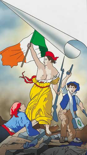 THE STRUGGLE CONTINUES: 1789 FRANCE, 1989 IRELAND by Robert Ballagh sold for �20,000 at Whyte's Auctions
