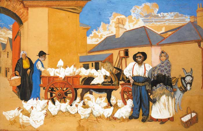 IRISH FREE STATE CHICKEN, 1928 by Seán Keating sold for €28,000 at Whyte's Auctions