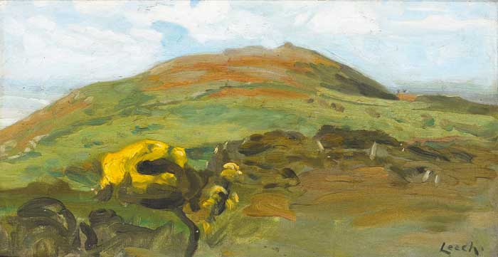 ON THE HILL OF HOWTH by William John Leech sold for �12,000 at Whyte's Auctions
