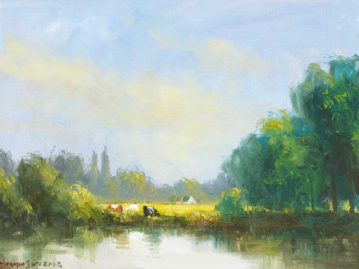 RIVER PASTURE by Norman J. McCaig (1929-2001) at Whyte's Auctions