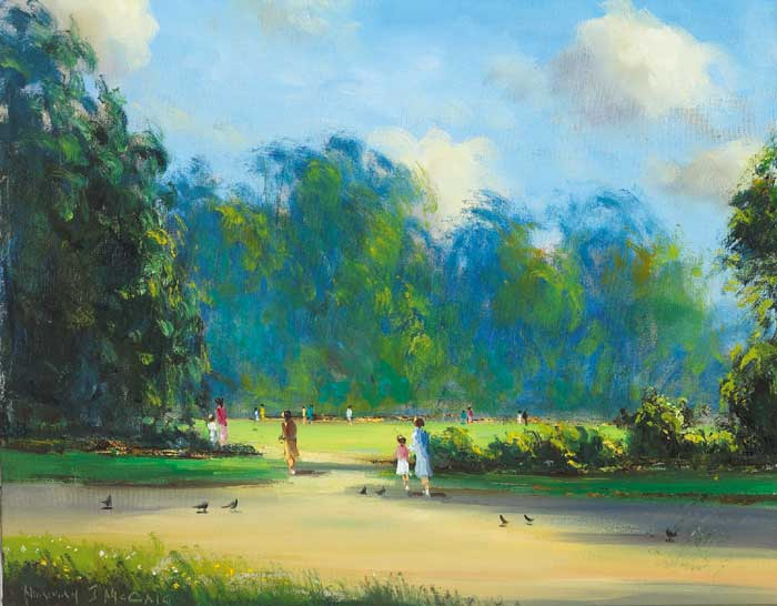 SUNNY MORNING IN THE PARK, ORMEAU PARK by Norman J. McCaig (1929-2001) (1929-2001) at Whyte's Auctions