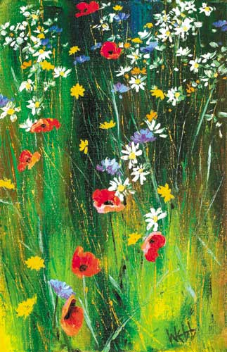 CONNEMARA GRASSES AND WILD FLOWERS by Kenneth Webb RWA FRSA RUA (b.1927) at Whyte's Auctions