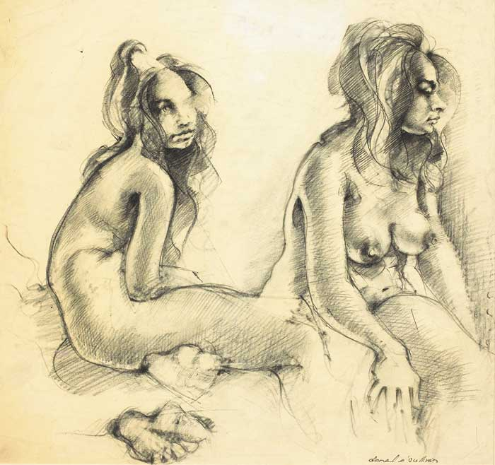 NUDE STUDIES (SET OF THREE) by Donal O'Sullivan (1945-1991) at Whyte's Auctions