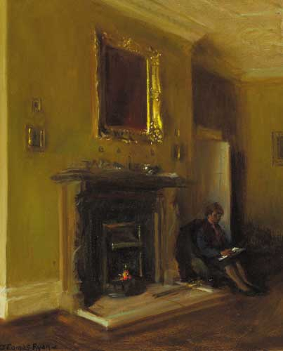 MARY IN THE LIVING ROOM, 1987 by Thomas Ryan PPRHA (b.1929) at Whyte's Auctions