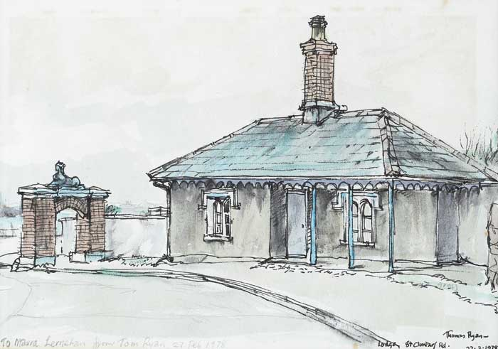 LODGE, 84 CLONTARF ROAD, 1978 by Thomas Ryan PPRHA (b.1929) at Whyte's Auctions
