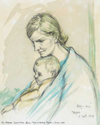 MARY AND ANN, 1970 by Thomas Ryan PPRHA (b.1929) at Whyte's Auctions
