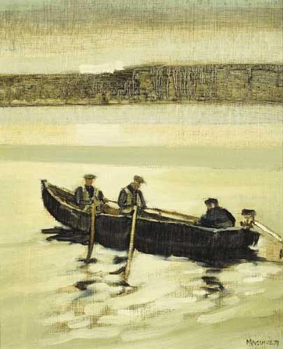 MEN FROM INISHMAAN, 1974 by Cecil Maguire RHA RUA (b.1930) RHA RUA (b.1930) at Whyte's Auctions