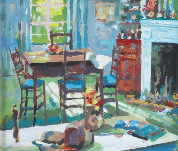 INTERIOR WITH TABLE AND CHAIRS, 1989 by James O'Halloran (b.1955) (b.1955) at Whyte's Auctions