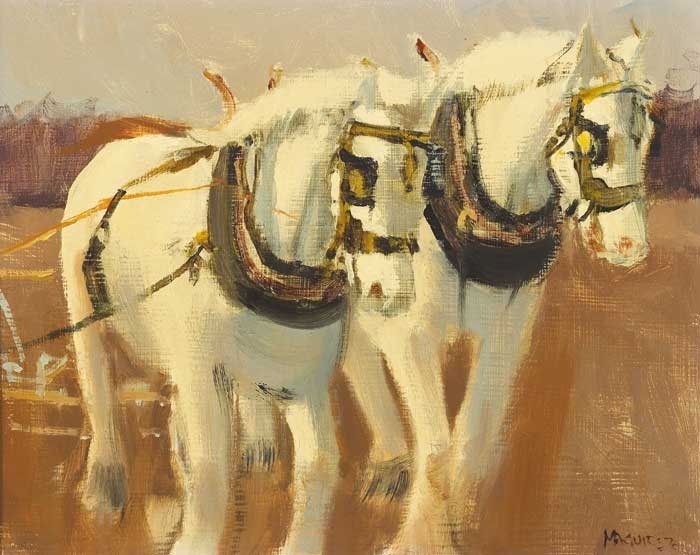 NELLIE AND DIAMOND, III, 1976 by Cecil Maguire RHA RUA (b.1930) at Whyte's Auctions