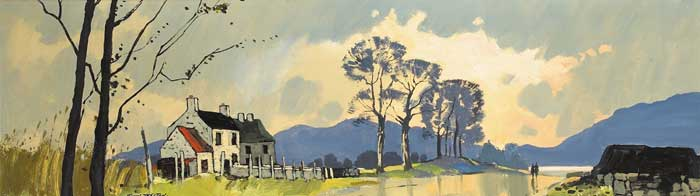 OLD HOUSE ON THE GREENORE ROAD, COUNTY LOUTH, circa 1965 by John Skelton (b.1923) at Whyte's Auctions