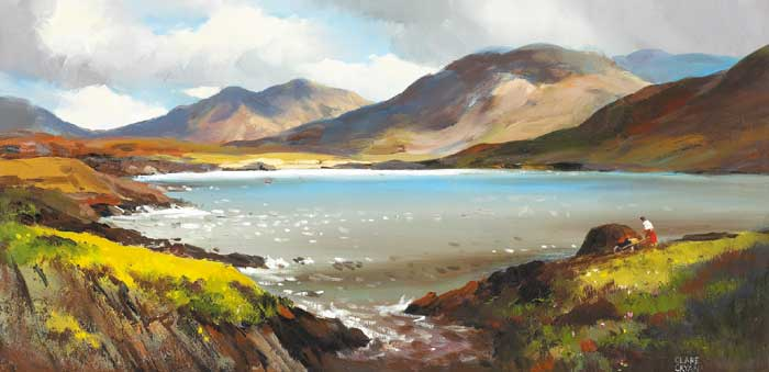 STACKING TURF, DONEGAL by Clare Cryan (b.1936) at Whyte's Auctions