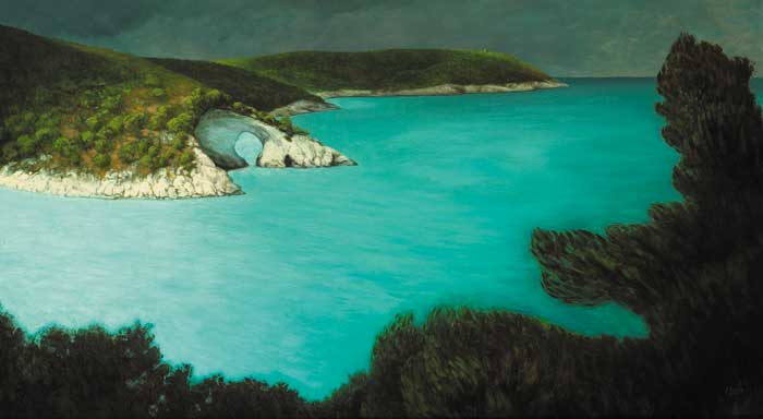 THE COAST NEAR VIESTE, PUGLIA, 2008 by Stuart Morle (b.1960) at Whyte's Auctions
