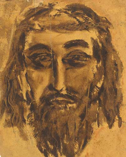 FACE OF CHRIST by George Campbell RHA (1917-1979) at Whyte's Auctions