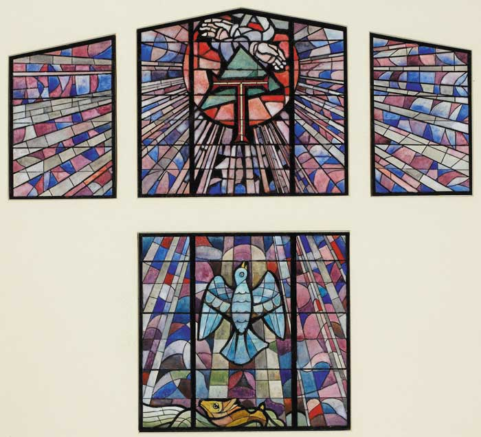 DESIGN FOR STAINED GLASS WINDOWS AT NEW CHURCH OF ST. MICHAEL, RATHMOLYON, COUNTY MEATH by Christopher Campbell (1908-1973) (1908-1973) at Whyte's Auctions