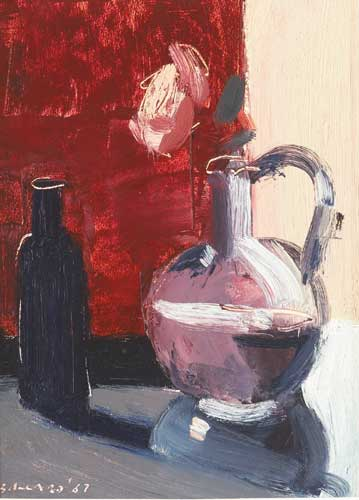 BLUE BOTTLE AND ROSE, 1987 by Brian Ballard RUA (b.1943) at Whyte's Auctions