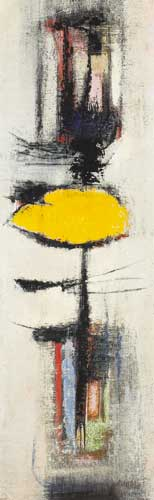 YELLOW FORM by Kenneth Mahood (b.1930) at Whyte's Auctions