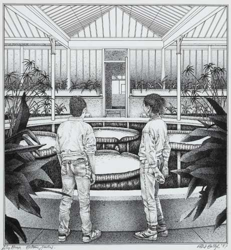 LILY HOUSE, BOTANIC GARDENS, 1987 by Robert Ballagh sold for �3,000 at Whyte's Auctions