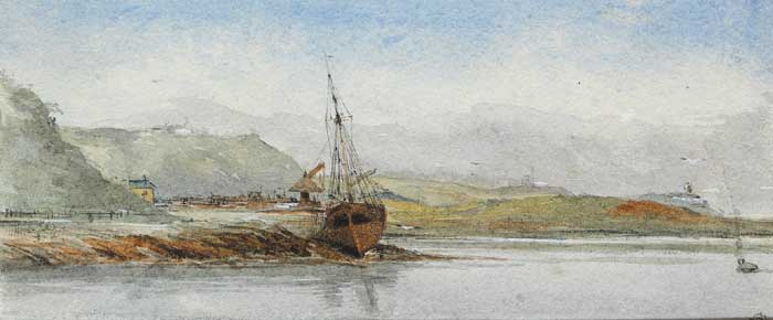 VIEW OF HARBOUR FROM WHITEPOINT, TIDE OUT, c. 1878 by Walter Frederick Osborne sold for �5,000 at Whyte's Auctions