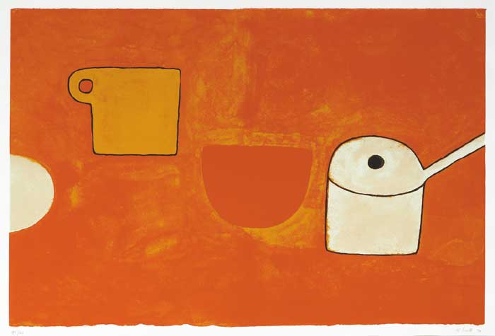 CUP, BOWL, PAN, BROWNS AND OCHRES, 1970 by William Scott sold for �4,800 at Whyte's Auctions