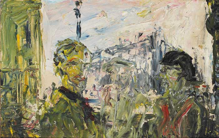 THE STREET IN SHADOW, 1932 by Jack Butler Yeats sold for �90,000 at Whyte's Auctions