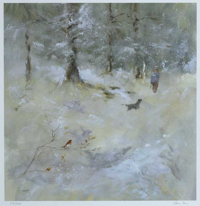 WOOD IN WINTER by Tom Kerr sold for �60 at Whyte's Auctions