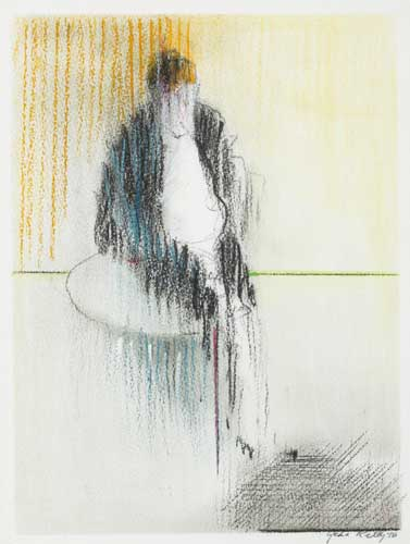 FIGURE IN INTERIOR, 1976 by John Kelly sold for �300 at Whyte's Auctions