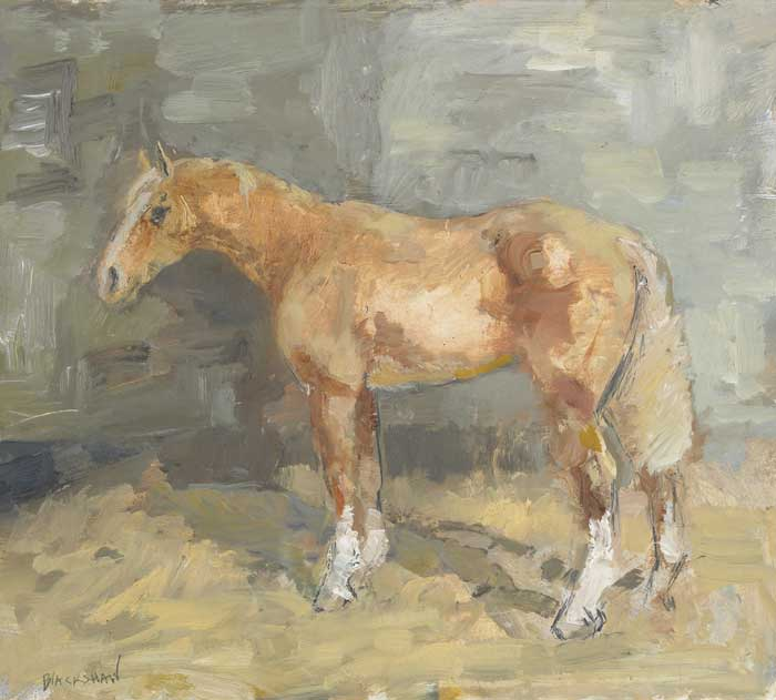 A CHESTNUT COB by Basil Blackshaw sold for �11,500 at Whyte's Auctions