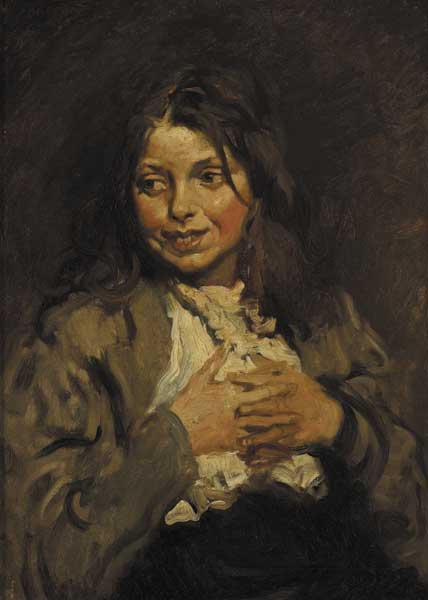 THE BEGGAR GIRL by Sir William Orpen sold for �27,000 at Whyte's Auctions