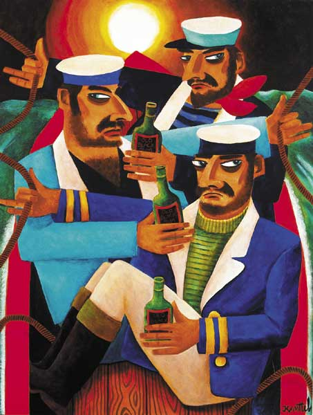 THREE SAILORS by Graham Knuttel sold for �7,000 at Whyte's Auctions