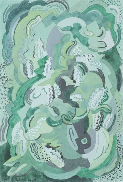 UNTITLED ABSTRACT, 1940 by Mainie Jellett sold for �3,000 at Whyte's Auctions