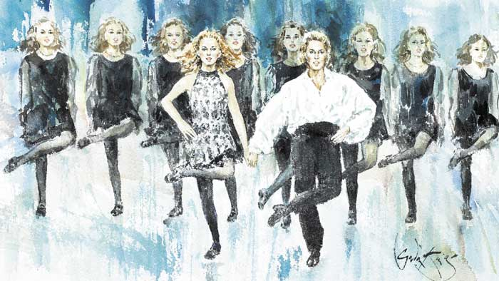 RIVER DANCE, 1995 by Gordon King sold for �2,000 at Whyte's Auctions