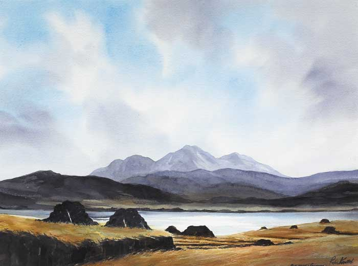 PEAT RIDGES, CONNEMARA by Peter Knuttel sold for �600 at Whyte's Auctions