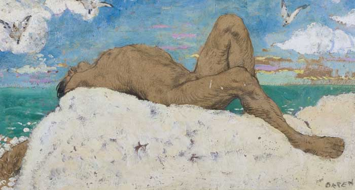 NUDE ON THE HILL OF HOWTH by Sir William Orpen sold for �16,500 at Whyte's Auctions