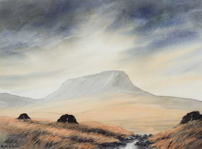 MUCKISH, COUNTY DONEGAL by Peter Knuttel sold for �400 at Whyte's Auctions