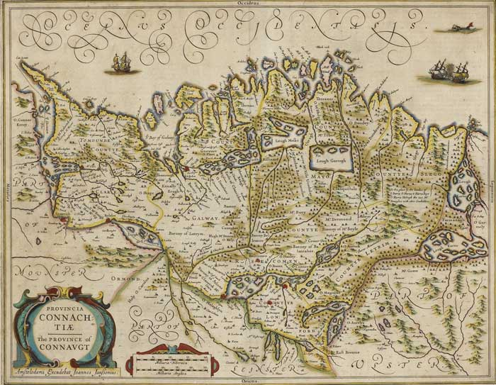 Circa 1650 Johannes Jansonius map - Provincia Connactiae - The Province of Connacht at Whyte's Auctions