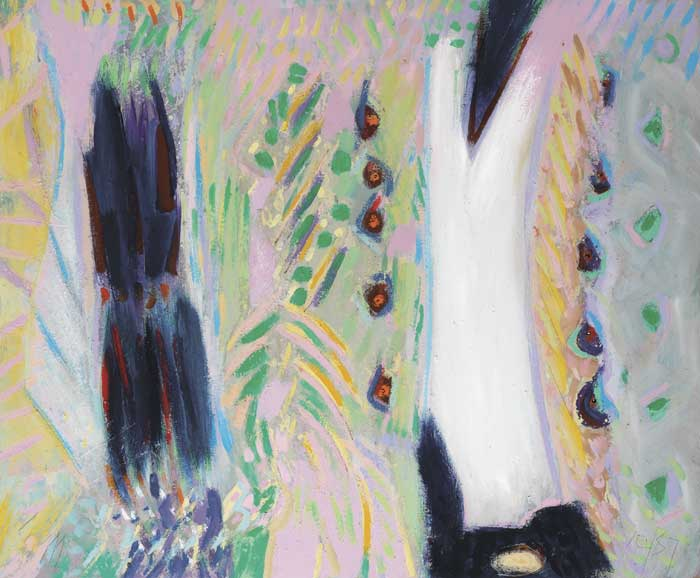 BAHAMAS PAINTING WITH WHITE SHAPE, OCTOBER/ NOVEMBER, 1987 by Tony O'Malley sold for �20,000 at Whyte's Auctions