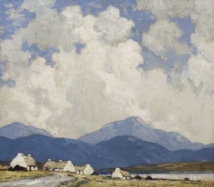 THE TURN OF THE ROAD, c.1940-41 by Paul Henry sold for �80,000 at Whyte's Auctions