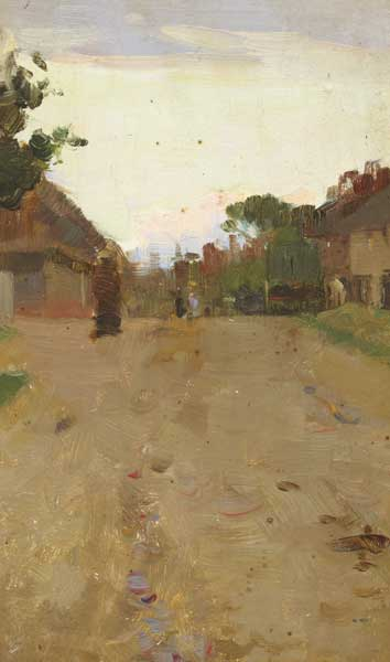 VILLAGE STREET SCENE by Walter Frederick Osborne sold for �5,800 at Whyte's Auctions