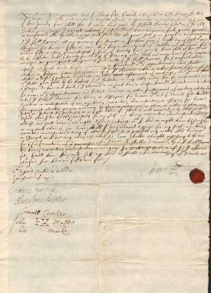 1655. A Cromwellian Soldier sells his grant of land in Ireland. at Whyte's Auctions