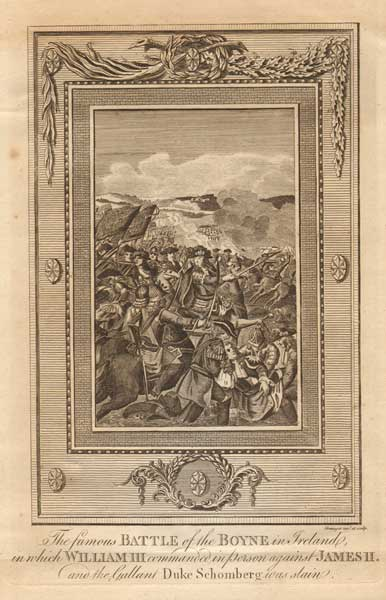 "[1690] ""The Famous Battle of the Boyne..."" An 18th Century Engraving at Whyte's Auctions"