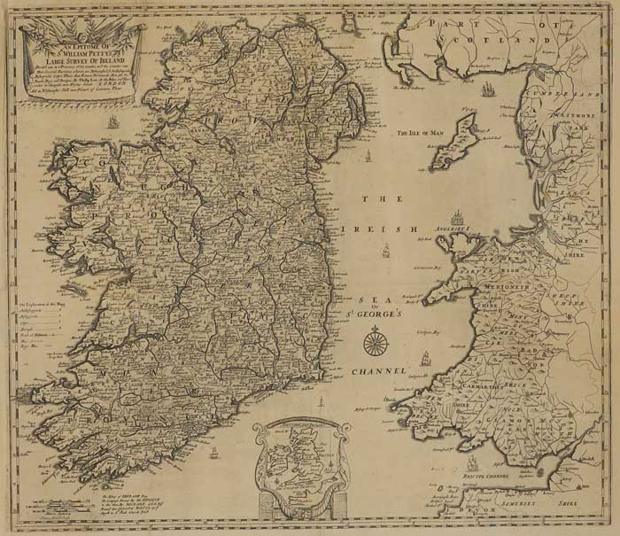 1691 Sir William Petty's Map of Ireland at Whyte's Auctions