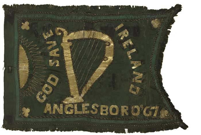 1867. A Unique Fenian Flag, carried in parades and demonstrations from the 1860s to the 1920s at Whyte's Auctions