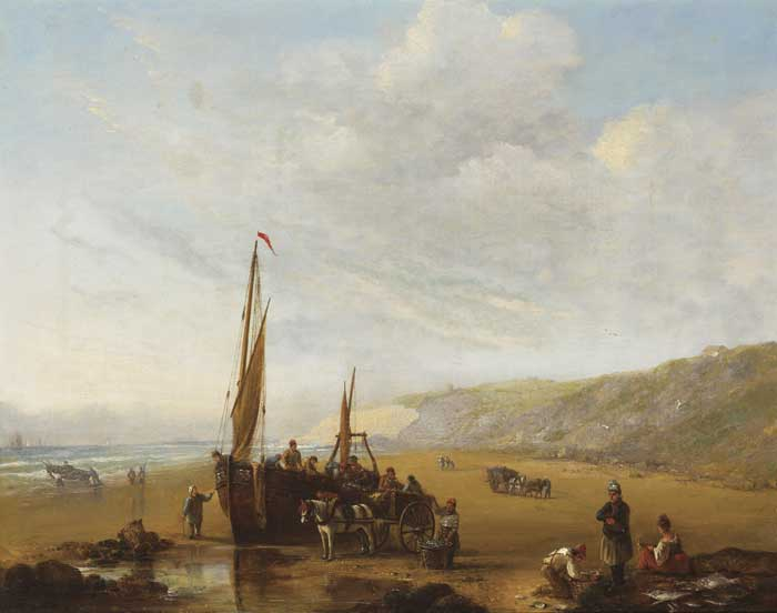 A COASTAL VIEW, 1837 by John Duncan King sold for �3,100 at Whyte's Auctions