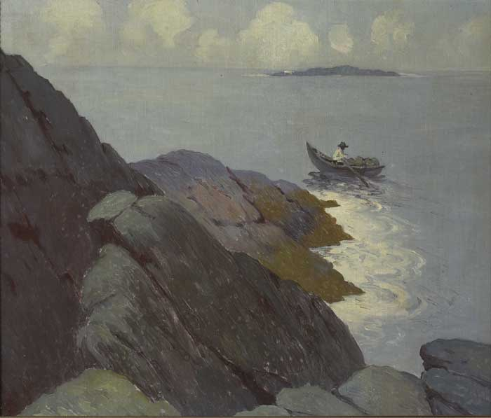 FISHERMAN IN A CURRACH, 1911-1913 by Paul Henry RHA (1876-1958) RHA (1876-1958) at Whyte's Auctions