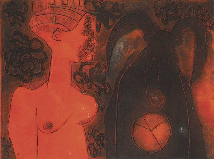 WOMAN AND COW, 1970 by Alice Hanratty (b.1939) at Whyte's Auctions