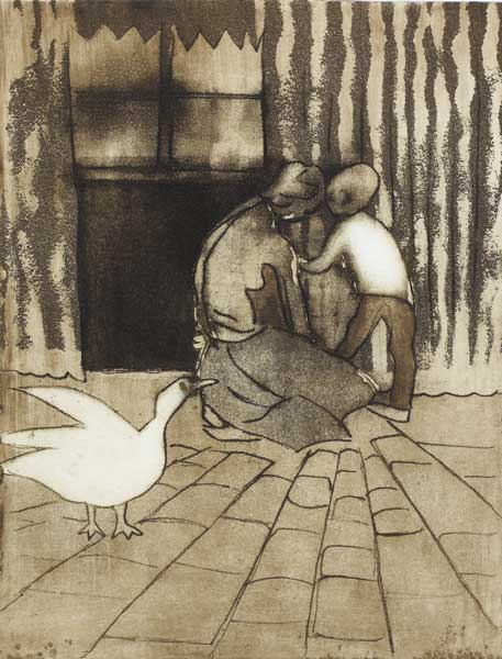 INTERIOR WITH GOOSE, 1976 by Chris Reid  at Whyte's Auctions
