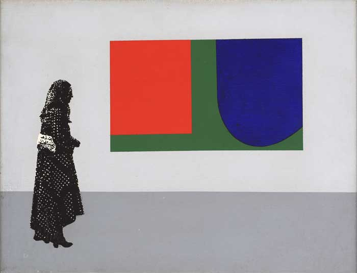 FIGURE AN WITH ELLSWORTH KELLY, 1972 by Robert Ballagh sold for �4,000 at Whyte's Auctions